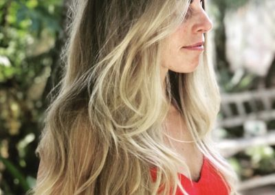 Hand Painted Blonde Highlights