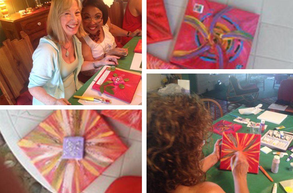 Using Art to Manifest Love Chakra Paint Shop