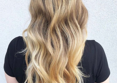 Blonde beachy balayage