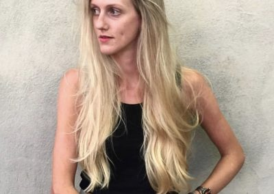 Dimensional Bright Beige Blonde & Long Layers